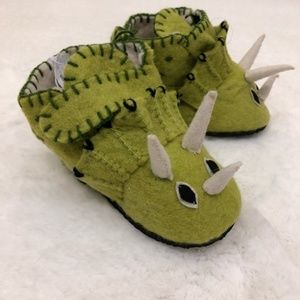 Zooties Triceratops Toddler Shoes - 1-3 Years
